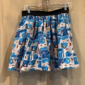 Dresses & Skirts - Star Trek print skirt blue Spock McCoy tos